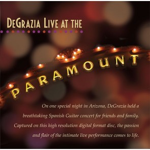 DeGrazia: Live at the Paramount - CD