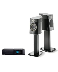 Small Desktop Audio System with Dynamic Speakers